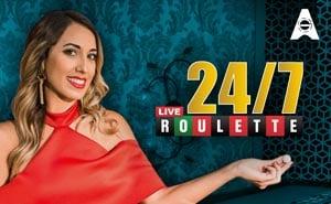 24/7 live roulette live casino game