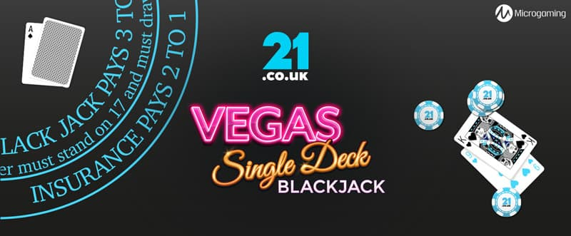 vegas single deck blackjack online slot